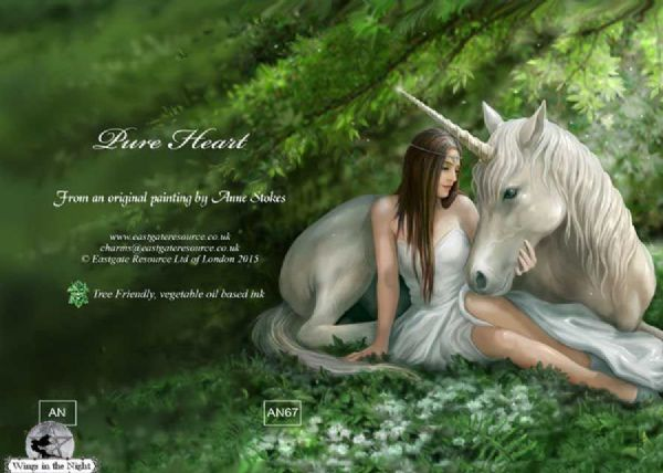 Anne Stokes Pure Heart Unicorn Greeting Card